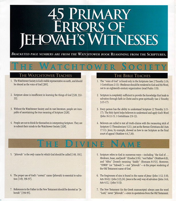 Jehovah's Witnesses: What You Need to KnowHarvest House